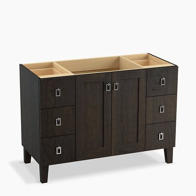 Poplin� 48 Vanity with Furniture Legs, 2 Doors and 6 Drawers Base Finish: Felt Gray
