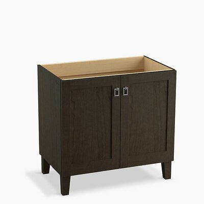 Poplin 36 Vanity with Furniture Legs and 2 Doors Finish: Felt Grey