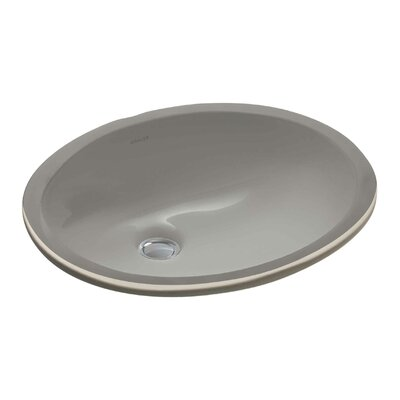 Caxton Oval Undermount Bathroom Sink with Overflow Sink Finish: Cashmere