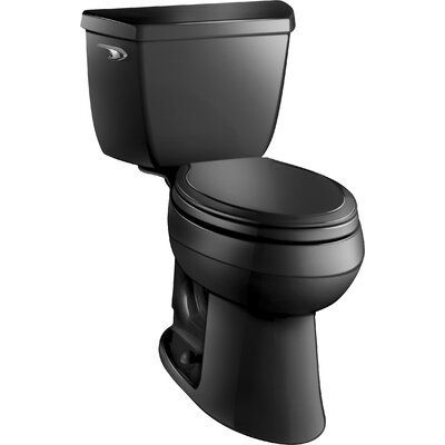 Highline Classic Comfort Height Two-Piece Elongated 1.28 GPF Toilet with Class Five Flush Technology and Left-Hand Trip Lever Finish: Black Black