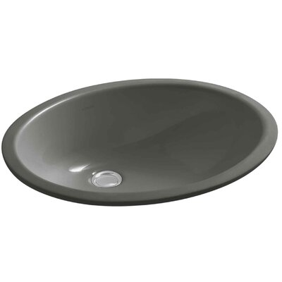 Caxton Ceramic Oval Undermount Bathroom Sink with Overflow Finish: Thunder Grey, Glazed Underside: No