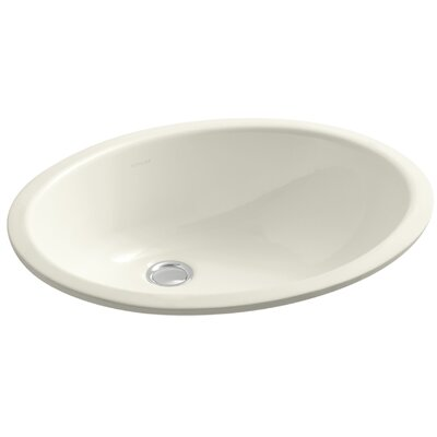 Caxton Oval Undermount Bathroom Sink with Overflow Finish: Biscuit, Glazed Underside: No