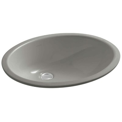 Caxton Oval Undermount Bathroom Sink with Overflow Finish: Cashmere, Glazed Underside: No