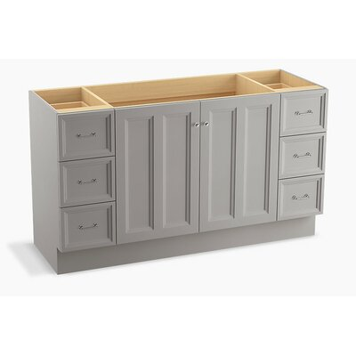 Damask 60 Vanity with Toe Kick, 2 Doors and 6 Drawers Finish: Mohair Grey