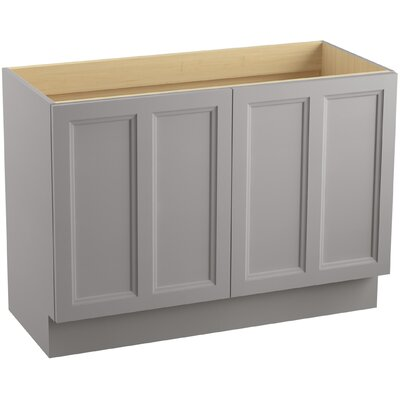 Damask 48 Vanity with Toe Kick and 2 Doors Finish: Mohair Grey