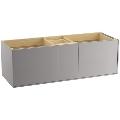 Jute Tones 60 Vanity with 2 Doors and 1 Drawer Base Finish: Mohair Gray