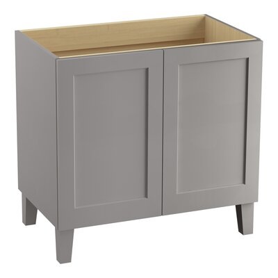 Poplin 36 Vanity with Furniture Legs and 2 Doors Finish: Mohair Grey