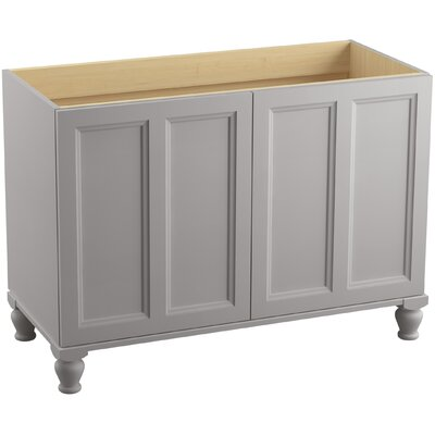 Damask 48 Vanity with Furniture Legs and 2 Doors Finish: Mohair Grey