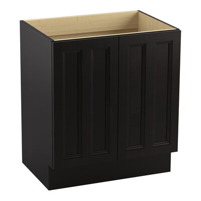 Damask� 30 Vanity with Toe Kick and 2 Doors Finish: Batiste Black