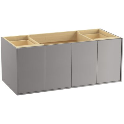 Jute 48 Vanity with 2 Doors and 2 Drawers, Split Top Drawer Finish: Mohair Grey