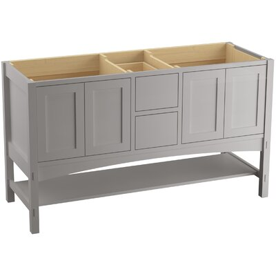 Marabou 60 Vanity with 4 Doors and 2 Drawers Finish: Mohair Grey