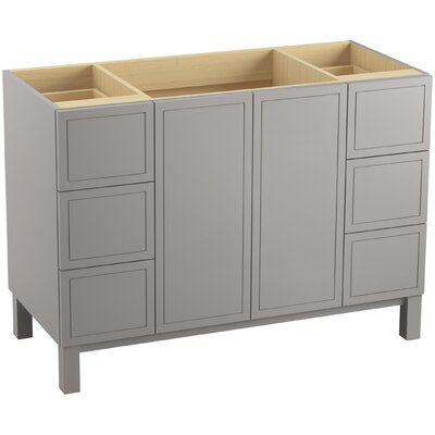 Jacquard� 48 Vanity with Furniture Legs, 2 Doors and 6 Drawers, Split Top Drawers Finish: Mohair Grey