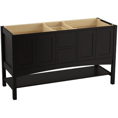 Marabou� 60 Vanity with 4 Doors and 2 Drawers, Split Top Drawer Finish: Batiste Black