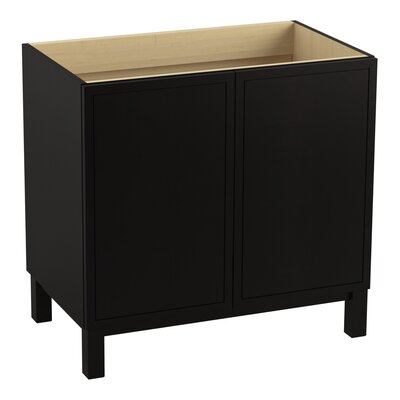 Jacquard 36 Vanity with Furniture Legs and 2 Doors Finish: Batiste Black
