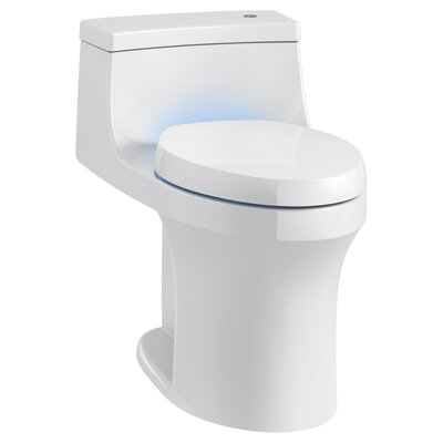 San Souci Touchless with Purefresh Comfort Height 1-Piece Compact Elongated 1.28 GPF Toilet with Aquapiston Flushing Technology Finish: White