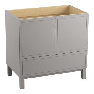 Jacquard 36 Vanity with Furniture Legs, 2 Doors and 1 Drawer Finish: Mohair Grey
