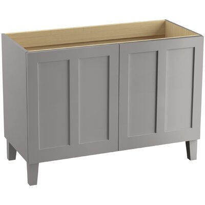 Poplin� 48 Vanity with Furniture Legs and 2 Doors Finish: Mohair Grey