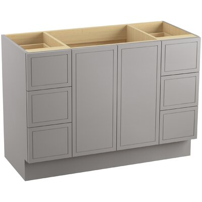 Jacquard� 48 Vanity with Toe Kick, 2 Doors and 6 Drawers Finish: Mohair Grey