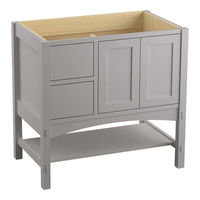 Marabou 36 Vanity 2 Doors and 2 Drawers on Left Finish: Mohair Grey