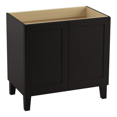 Poplin 36 Vanity with Furniture Legs and 2 Doors Finish: Batiste Black