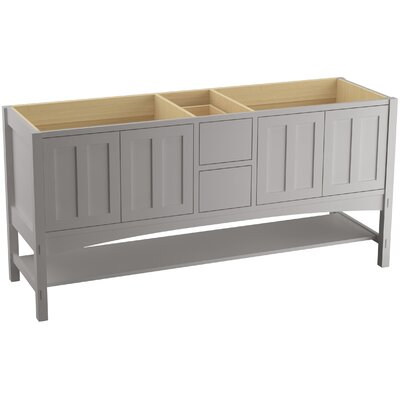 Marabou 72 Vanity with 4 Doors and 2 Drawers, Split Top Drawer Finish: Mohair Grey