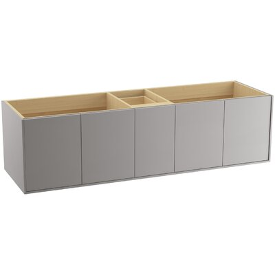 Jute� 72 Vanity with 4 Doors and 1 Split Drawer Finish: Mohair Grey