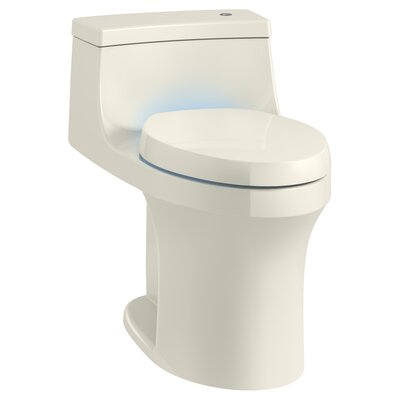 San Souci Touchless with Purefresh Comfort Height 1-Piece Compact Elongated 1.28 GPF Toilet with Aquapiston Flushing Technology Finish: Biscuit