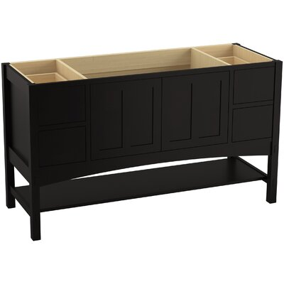 Marabou� 60 Vanity with 2 Doors and 4 Drawers, Split Top Drawers Finish: Batiste Black