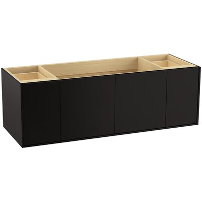 Jute� 60 Vanity with 2 Doors and 2 Drawers, Split Top Drawer Finish: Batiste Black