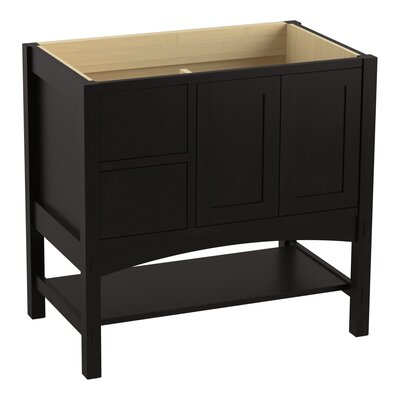 Marabou 36 Vanity 2 Doors and 2 Drawers on Left Finish: Batiste Black
