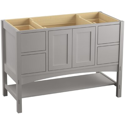 "Marabou 48"" Vanity with 2 Doors and 4 Drawers Finish: Mohair Grey"
