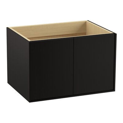 Jute 30 Vanity with 2 Doors Finish: Batiste Black