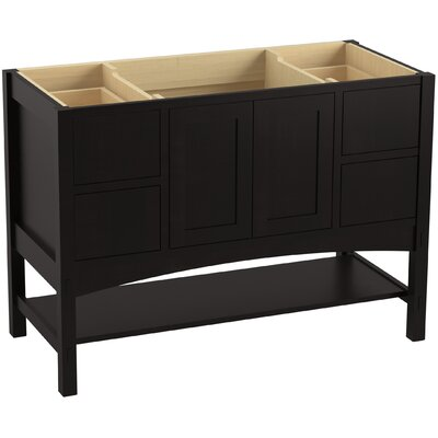 Marabou� 48 Vanity with 2 Doors and 4 Drawers Finish: Batiste Black