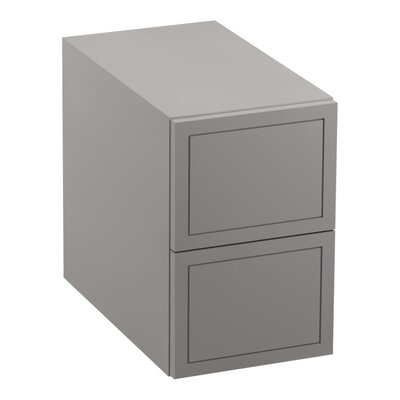 Jacquard� 2-Drawer Bridge Finish: Mohair Grey