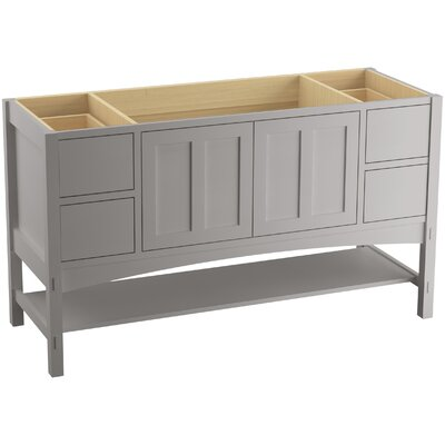 Marabou 60 Vanity with 2 Doors and 4 Drawers Finish: Mohair Grey