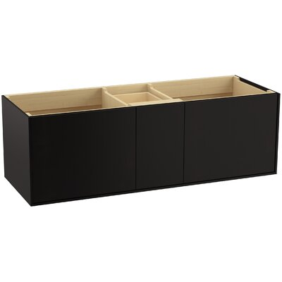 Jute 60 Vanity with 2 Doors and 1 Split Drawer Finish: Batiste Black