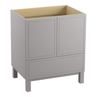 Jacquard� 30 Vanity with Furniture Legs, 2 Doors and 1 Drawer Finish: Mohair Grey