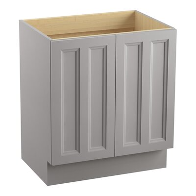 "Damask 30"" Vanity with Toe Kick and 2 Doors Finish: Mohair Grey"