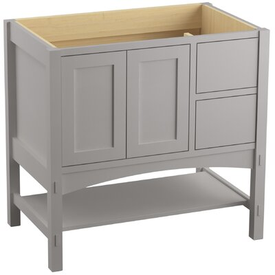 Marabou 36 Vanity with 2 Doors and 2 Drawers on Right Finish: Mohair Grey