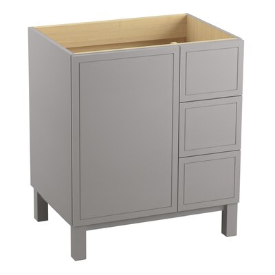Jacquard� 30 Vanity with Furniture Legs, 1 Door and 3 Drawers on Right Finish: Mohair Grey