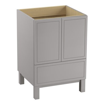 Jacquard� 24 Vanity with Furniture Legs, 2 Doors and 1 Drawer Finish: Gray