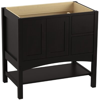 Marabou� 36 Vanity with 2 Doors and 2 Drawers on Right Finish: Batiste Black