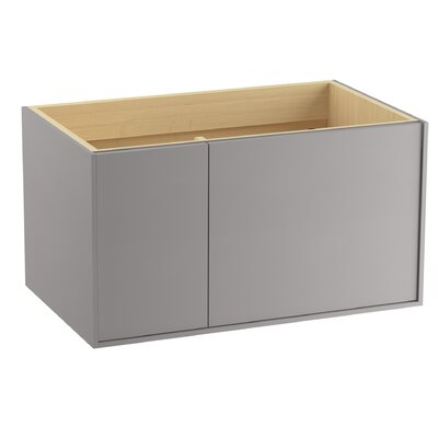 "Jute 36"" Vanity with 1 Door and 1 Drawer on Left Finish: Mohair Grey"