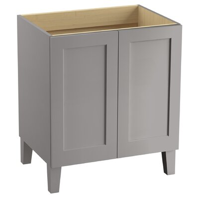 "Poplin 30"" Vanity with Furniture Legs and 2 Doors Finish: Mohair Grey"