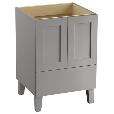Poplin Tones 24 Vanity with Furniture Legs, 2 Doors and 1 Drawer Finish: Mohair Grey