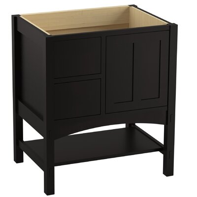 Marabou� 30 Vanity with 1 Door and 2 Drawers on Left Finish: Batiste Black