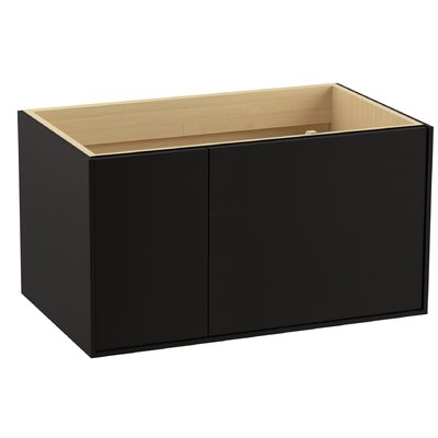 Jute� 36 Vanity with 1 Door and 1 Drawer on Left Finish: Batiste Black
