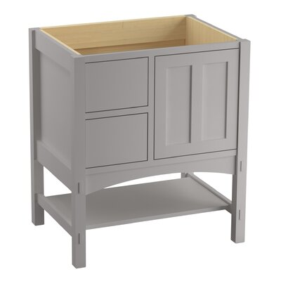 Marabou� 30 Vanity with 1 Door and 2 Drawers on Left Finish: Mohair Grey