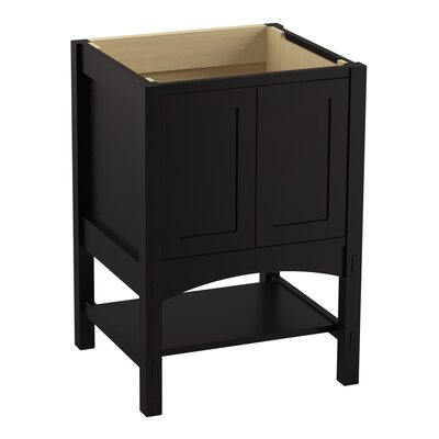 Marabou� 24 Vanity with 2 Doors Finish: Batiste Black
