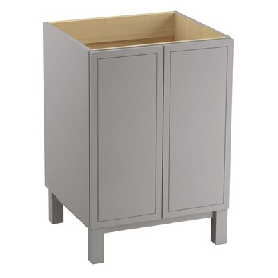Poplin 36 Vanity with Furniture Legs, 2 Doors and 1 Drawer Finish: Mohair Grey